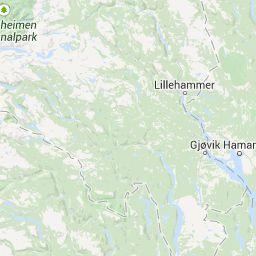 Kaart Van Alle Skigebieden In Noorwegen Noorwegen Kaarten