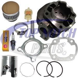 Polaris Scrambler 50 Piston Cylinder Kit Gasket Rings Pin Circlip 2001 2002 2003 Piston Ring Spark Plug Cylinder