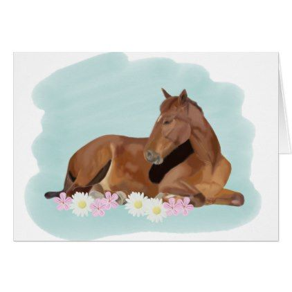 Sleeping Horse Card Country Gifts Style Diy Gift Ideas With