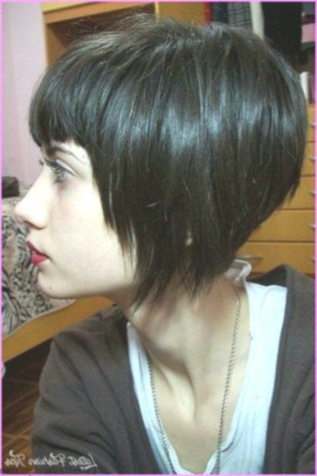 20 Short Straight Hairstyles With Bangs In 2020 Angled Bob Hairstyles Funky Bob Hairstyles Bob Hairstyles