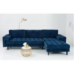 Elegantes Ecksofa Cozy Velvet 260cm Dunkelblau Samt Federkern 3er Sofa Riess Ambiente In 2020 Schlafsofa Mit Bettkasten Ecksofa Und 3er Sofa