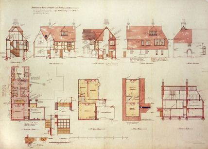 Plan Of Red House Bexleyhearth Kent 1859