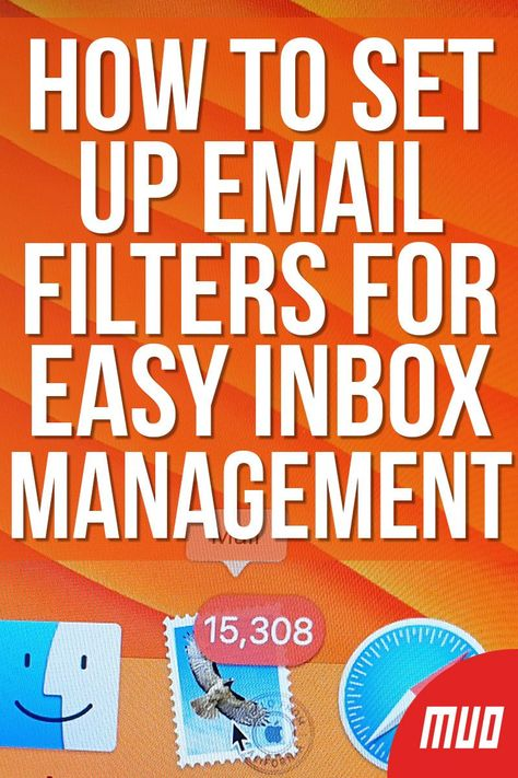 MakeUseOf — Technology, Simplified —  Setting up email filters, or organizing conversations into folders, is an efficient way to manage your email inbox.  For example, you might set up a filter to separate newsletters from more important messages. It's also a great way to automatically trash or mark certain emails as spam.  #HowTo #Internet #Filters #Email #Gmail #Inbox #EmailManagement