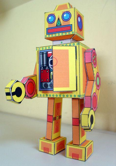 The robot | Recortable sacado de aquí Al fin tuve un poco de… | Flickr