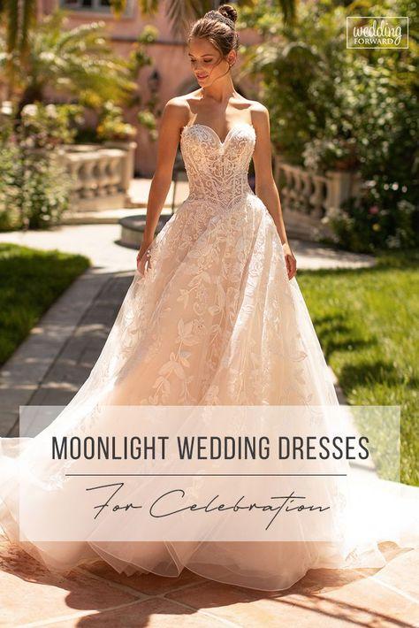 Moonlight Wedding Dresses: Fairytale Bridal Collection 2020 ❤  moonlight wedding dresses ball gown strapless sweetheart neckline lace 2020 #weddingforward #wedding #bride