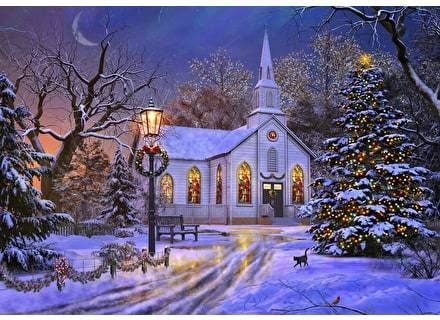 Midnight Mass 500 Piece Wentworth Wooden Puzzle Christmas Magic