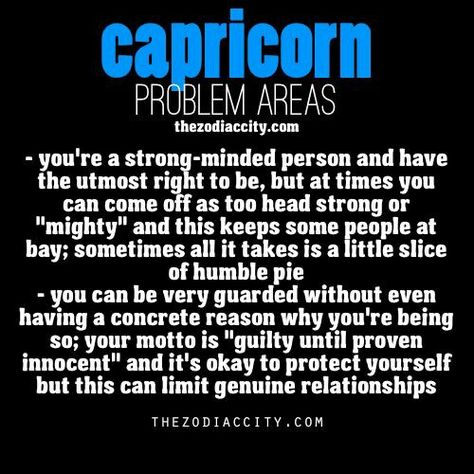 CAPRICORN Problem areas...  ~D~