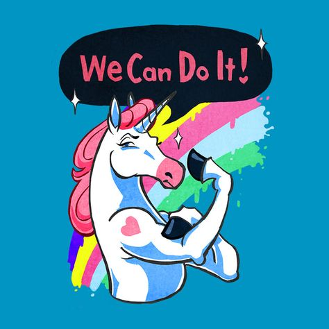 Unicorn propaganda to boost worker morale. support and promote t-shirt designs. Help fund your favorites!!  created by a passionate community of artists.