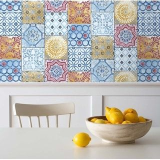 Overstock Com Online Shopping Bedding Furniture Electronics Jewelry Clothing More Peel And Stick Wallpaper Removable Wallpaper Moroccan Tile