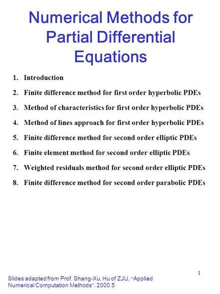 Numerical Methods for Partial Differential Equations> | Vehicles