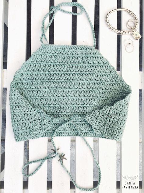 Halter Top Crochet Tutorial espalda