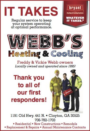 Thank You To All Of Our First Responders Clayton Georgia Webbs