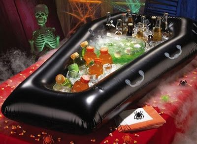 Jalaya New Halloween Inflatable PVC Simulation Coffin Drink Cooler Ice Buckets Toy Event Item Party Decoration Supplies 30th Birthday Themes, 21st Birthday Checklist, Birthday Decorations, Birthday Ideas, Holiday Party Themes, Halloween Party Decor, Halloween House, 30th Party, Casino Party