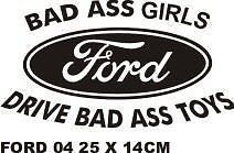 Bad Ass Girls Drive Bad Ass Toys Ford Truck Window Vinyl Decal Sticker