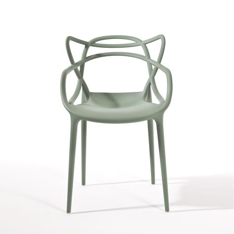 Sedie Masters Kartell.Polypropylene Chair Sage Green Mod Masters Kartell
