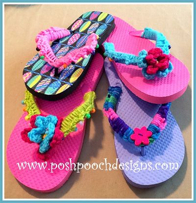 7648840f4 Get ready for summer with these 15 gorgeous patterns for barefoot sandals  and flip flop decorations! These projects are quick and great for summer!