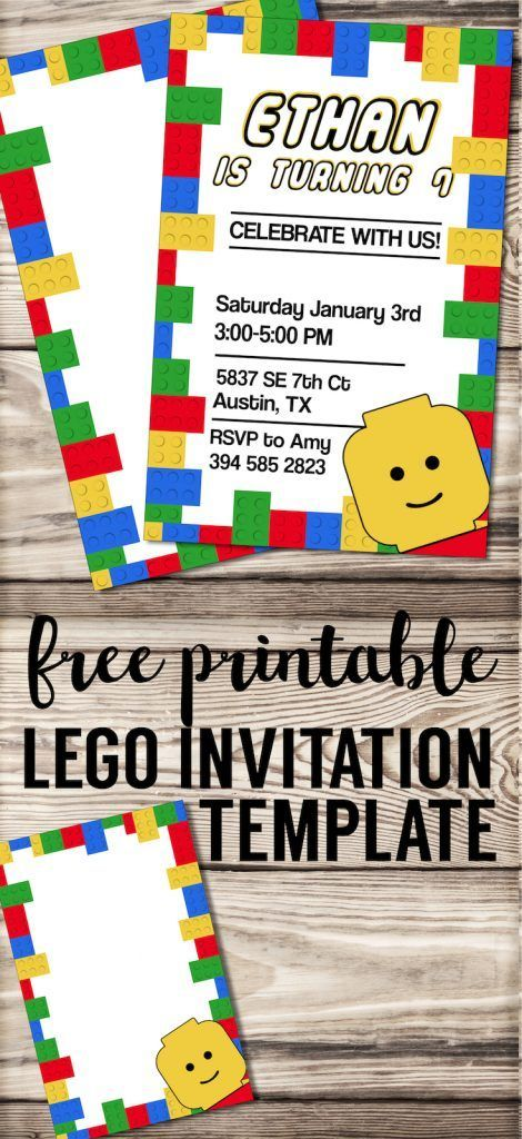 free printable lego birthday party