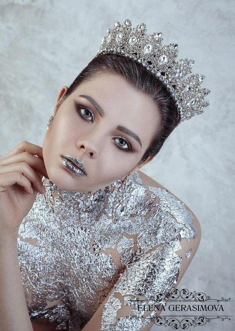 Weddinq Crystal Crown silver Crown Tiara Bridal Headpiece Headband Taira for weddings Hair Accessory Queen Modern crown