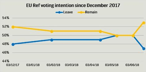 Survation Brexit anniversary poll has REMAIN 5% ahead