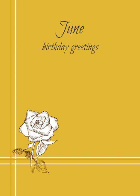 Happy June Birthday White Rose Flower Yellow Card Ad Aff Birthday White Happy White Rose Flower White Roses Happy June