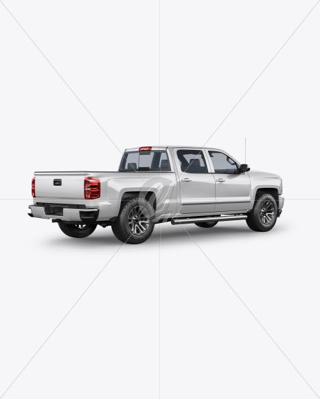 Full Size Pickup Truck Mockup Back Half Side View In Vehicle Mockups On Yellow Images Object Mockups Full Size Pickup Truck Pickup Trucks Mockup