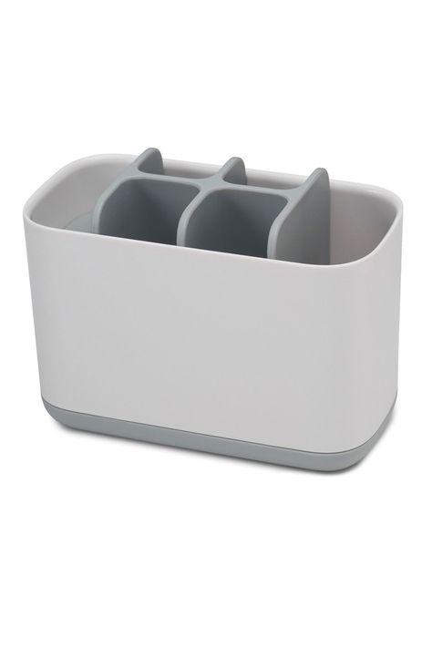 Joseph Joseph Easystore Large White And Grey Toothbrush Tidy Grey Bathroom Accessories Joseph Joseph Wash N Dry