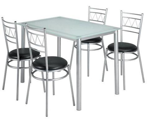 Conjunto de mesa y 4 sillas de cocina MILAN | conforama 100 ...