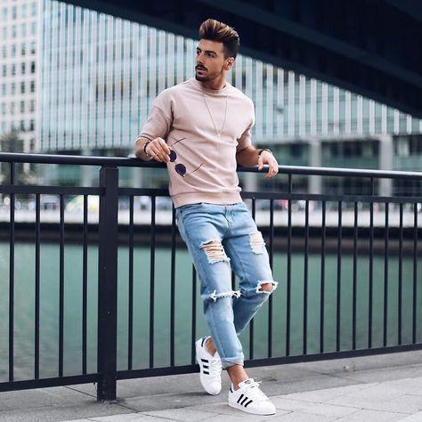 Outfit Con Tenis Deportivos Hombre Camisa Con Tenis Hombre