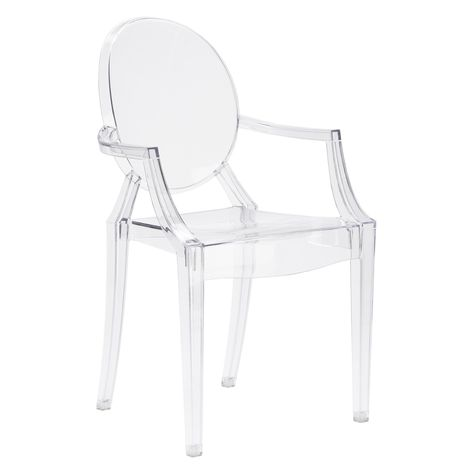 Edgemod Burton Arm Chair Set Of 2 Clear Products In 2019 Dining Chairs Ghost Chairs Acrylic Chair
