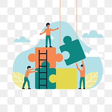 People Make Puzzles Concept Team Work Illustration Vektor Job Clipart Work Team Png And Vector With Transparent Background For Free Download Communication Illustration Illustration Design Illustration