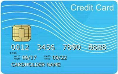 Kartu Kredit Tampak Depan Kartu Kredit Perbankan Kartu