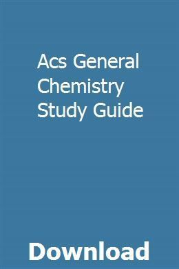 Acs General Chemistry Study Guide Download Pdf Printable Study Guides Chemistry Study Guide Study Guide
