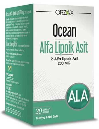 Ocean Alfa Lipoik Asit R Formu 200 Mg Aninda Kargo Kapsul Bilgi