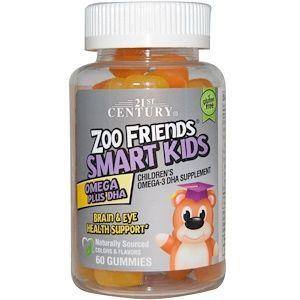 21st Century Zoo Friends ズーフレンズ スマートキッズ オメガプラスdha グミ60粒 Discontinued Item Vitamins For Kids Kids Multivitamin Smart Kids