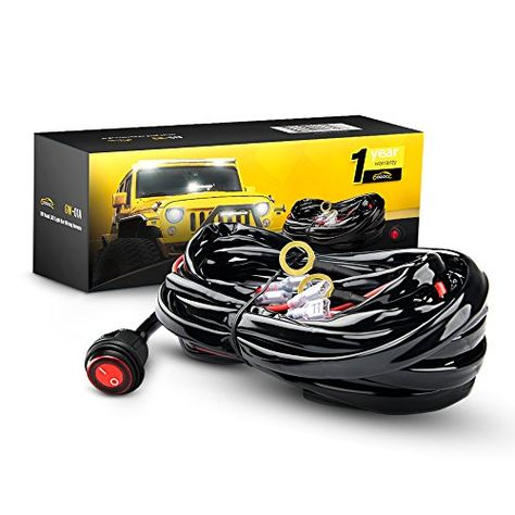 gooacc off road led light bar wiring harness kit 12v on off rh pinterest com
