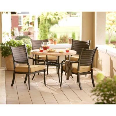 Hampton Bay Santa Maria 5 Piece Patio Dining Set S5 ADQ10801 At The Home  Depot | Deck | Pinterest | Patio Dining, Patios And Backyard