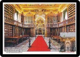 Portugal 2014 Postal Maximo Unesco Universidade De Coimbra Alta E