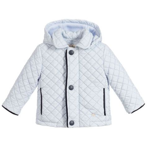 46e18983c Piccola Speranza-Baby Boys Blue Quilted Coat