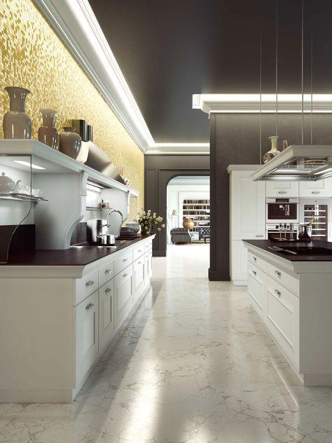 Cucine classiche con isola: design Iosa Ghini con Frame   Snaidero ...