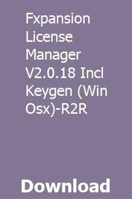 Fxpansion License Manager V2 0 18 Incl Keygen (Win Osx)-R2R
