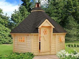 So Cute Bbq Hut Corner Log Cabins Garden Log Cabins