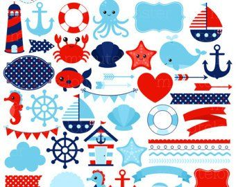 Sailor Theme Digital Images Nautical Clipart UZ586