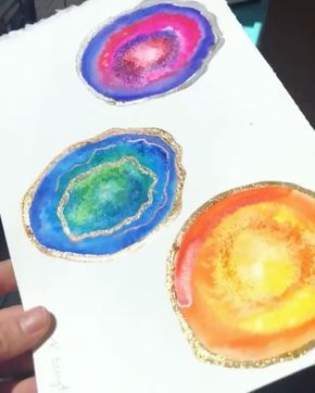 New age art Watercolor Geodes Gemstone Slices Clipart Geode Clip Art