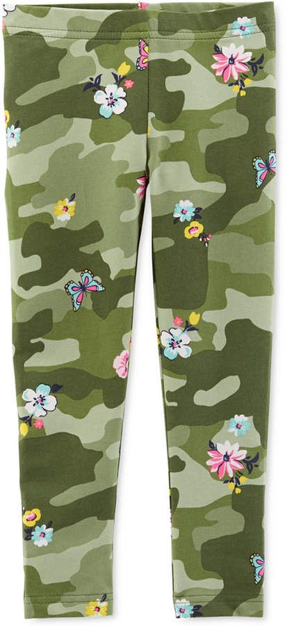 Baby Girls Camo Print Leggings Camouflage Print Flowers Baby Girl Camo Carters Baby Girl Leggings Kids