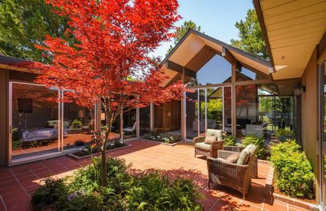 Joseph Eichler Homes: Outstanding Atriums... I love Eichler Homes!  If only I had some $$ and lived in Cali!