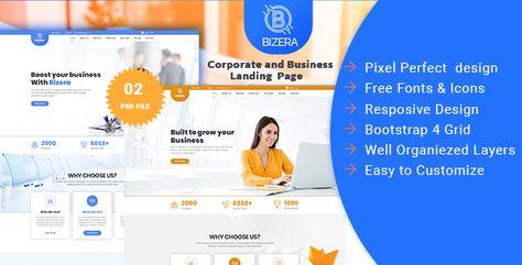 Bizera — Corporate and Business Landing Template | Stylelib