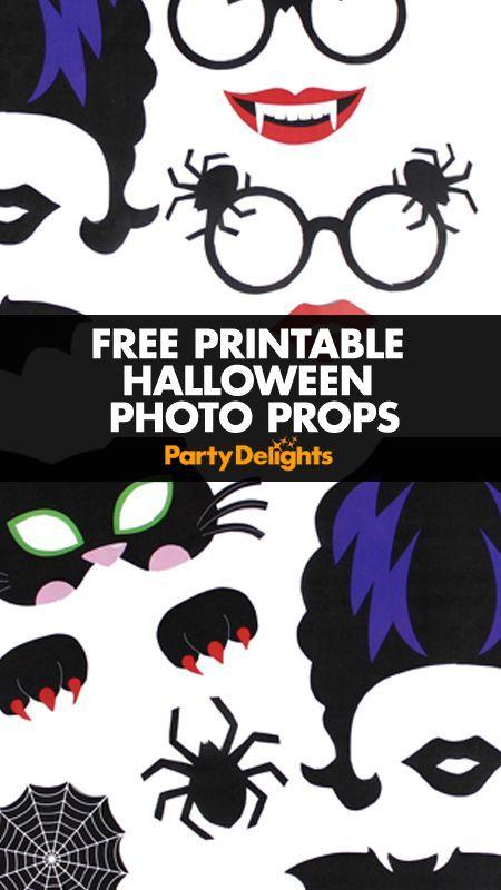 Free Printable Halloween Photo Booth | Halloween photos, DIY ...