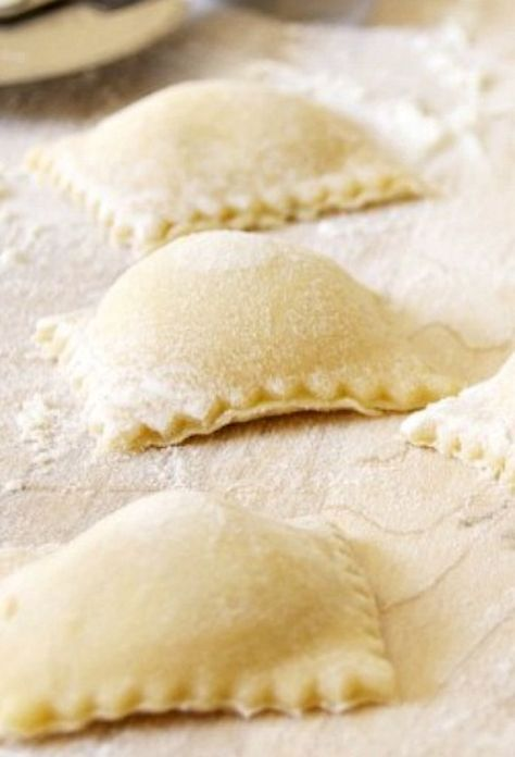 Homemade Ravioli THIS IS A DELICIOUS RECIPE FOR RAVIOLI AS WELL AS THE SAUCE THAT GOES WITH IT. GREAT MEAL...ENJOY