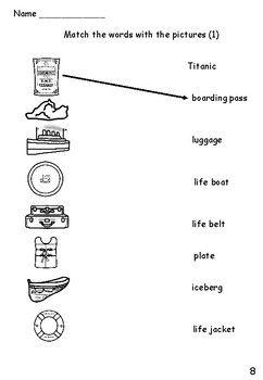 Titanic Activity Sheets