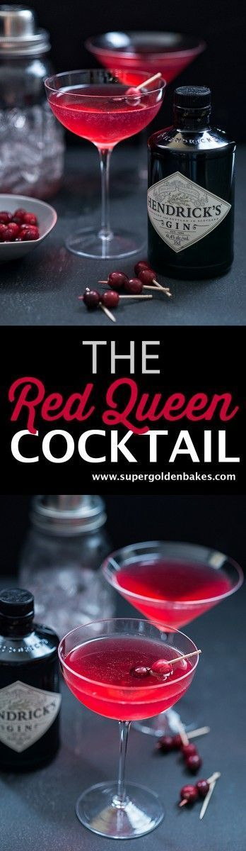 The Red Queen Cocktail Beautiful Capricious And A Little Dangerous This Festive Gin Based Cocktail Was Named After The Re Cocktail Einfach Lecker Getranke
